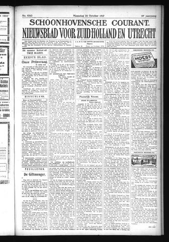 Schoonhovensche Courant 1927-10-24