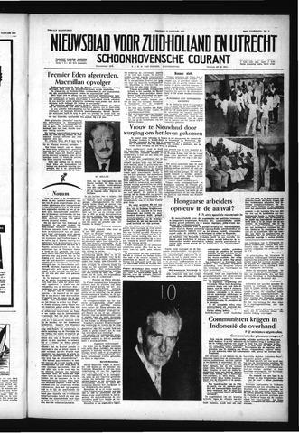 Schoonhovensche Courant 1957-01-11