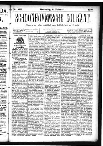Schoonhovensche Courant 1920-02-25