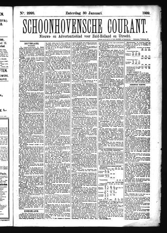 Schoonhovensche Courant 1909-01-30
