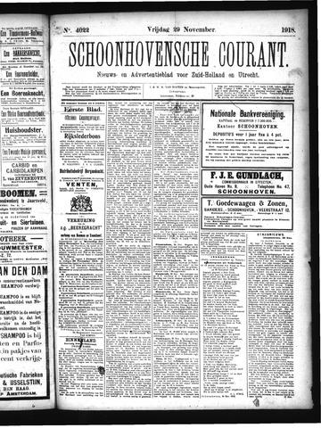 Schoonhovensche Courant 1918-11-29