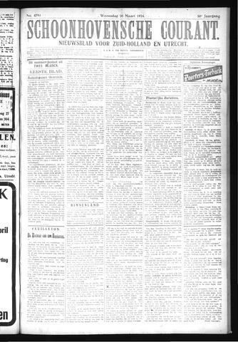 Schoonhovensche Courant 1924-03-26