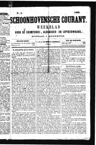Schoonhovensche Courant 1869-08-01