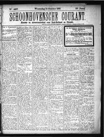 Schoonhovensche Courant 1921-10-12