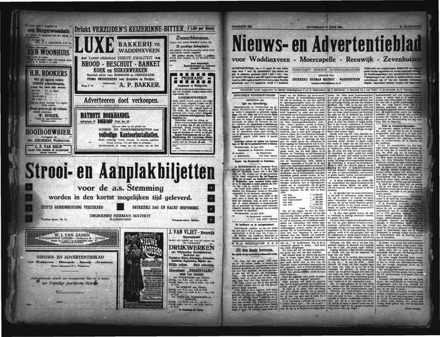 Advertentieblad Waddinxveen 1916-06-17