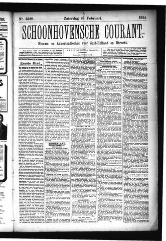 Schoonhovensche Courant 1914-02-28