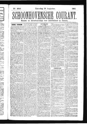 Schoonhovensche Courant 1905-08-19