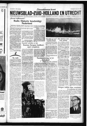 Schoonhovensche Courant 1962-09-26
