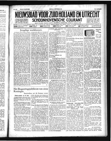 Schoonhovensche Courant 1938-09-09
