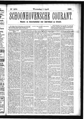 Schoonhovensche Courant 1899-04-05