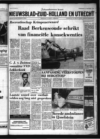 Schoonhovensche Courant 1974-10-09