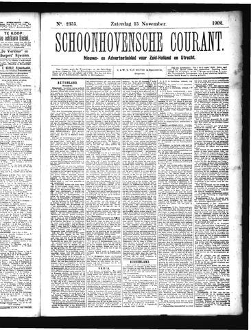 Schoonhovensche Courant 1902-11-15