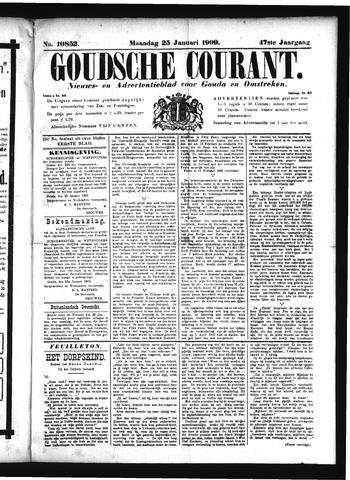 Goudsche Courant 1909-01-25