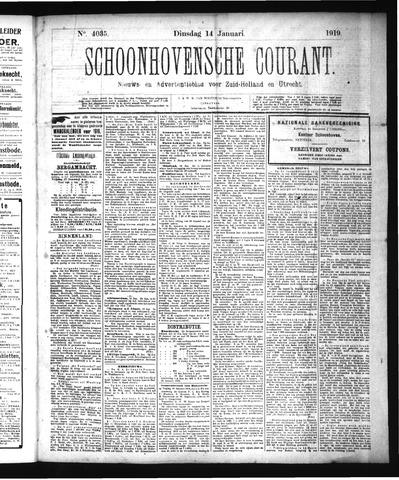Schoonhovensche Courant 1919-01-14