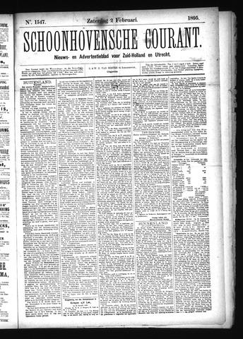 Schoonhovensche Courant 1895-02-02