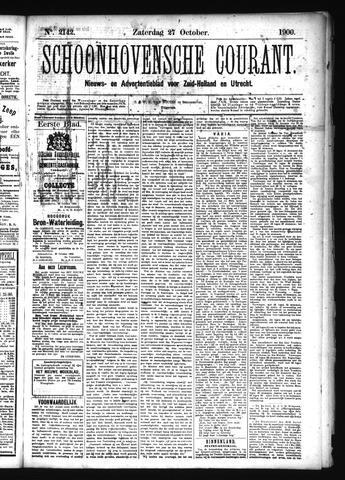 Schoonhovensche Courant 1900-10-27