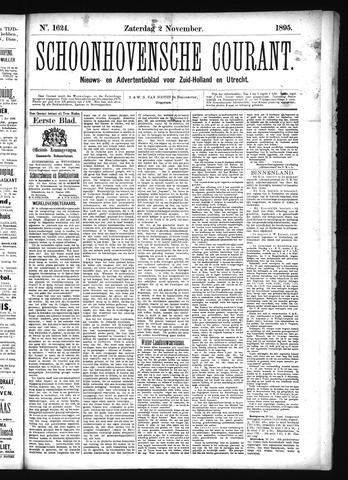 Schoonhovensche Courant 1895-11-02