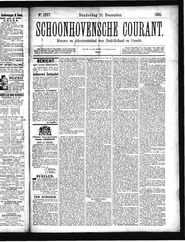 Schoonhovensche Courant 1891-12-31