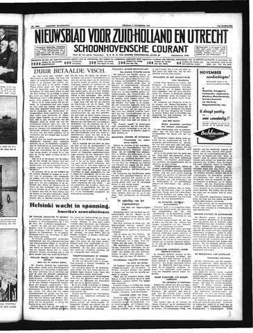 Schoonhovensche Courant 1939-11-03