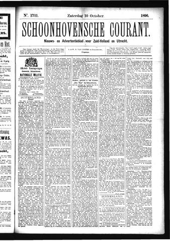 Schoonhovensche Courant 1896-10-10