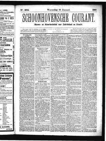 Schoonhovensche Courant 1908-01-29