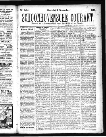 Schoonhovensche Courant 1913-11-01