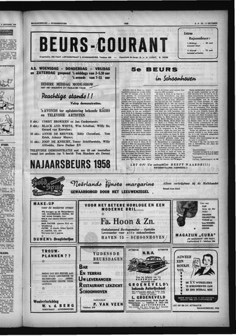Schoonhovensche Courant 1958-10-11