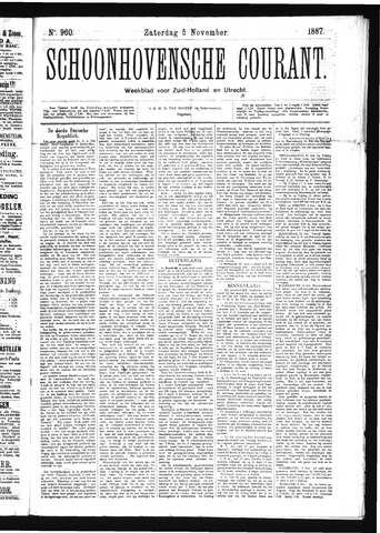 Schoonhovensche Courant 1887-11-05
