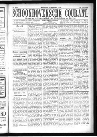 Schoonhovensche Courant 1922-12-20