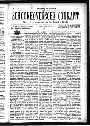 Schoonhovensche Courant 1893-10-21