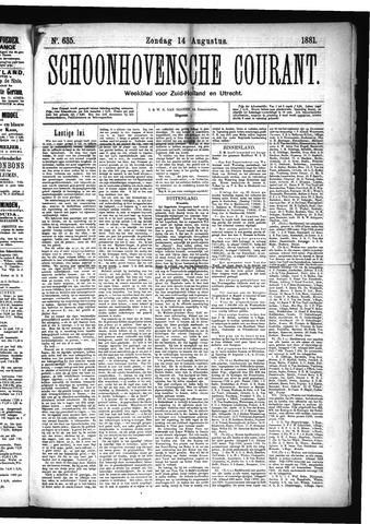 Schoonhovensche Courant 1881-08-14