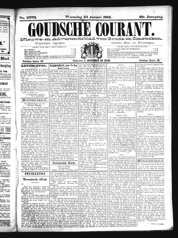 Goudsche Courant 1912-01-24