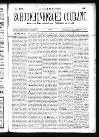 Schoonhovensche Courant 1896-02-22
