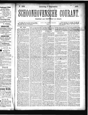 Schoonhovensche Courant 1888-09-08