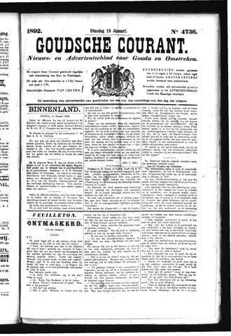 Goudsche Courant 1892-01-19