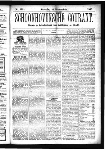 Schoonhovensche Courant 1900-09-22