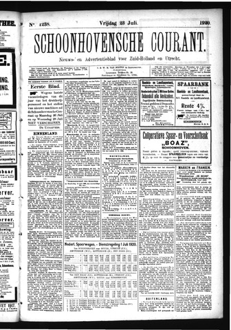 Schoonhovensche Courant 1920-07-23