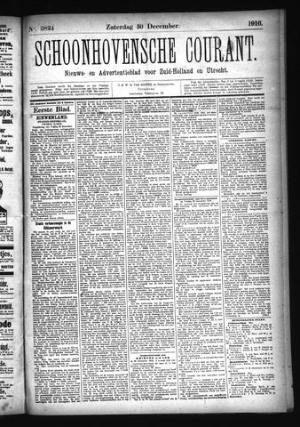 Schoonhovensche Courant 1916-12-30