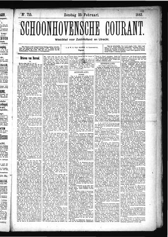 Schoonhovensche Courant 1883-02-25