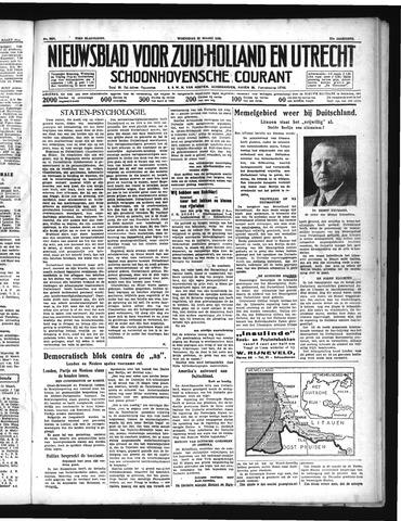 Schoonhovensche Courant 1939-03-22