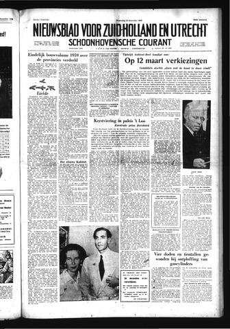 Schoonhovensche Courant 1958-12-24