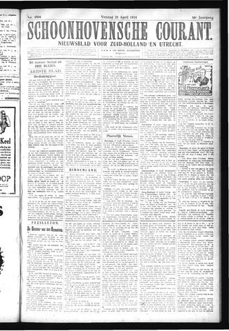Schoonhovensche Courant 1924-04-25