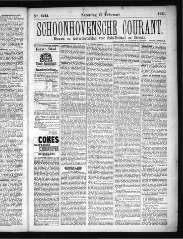 Schoonhovensche Courant 1911-02-25