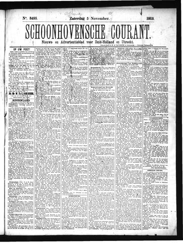 Schoonhovensche Courant 1913-11-05
