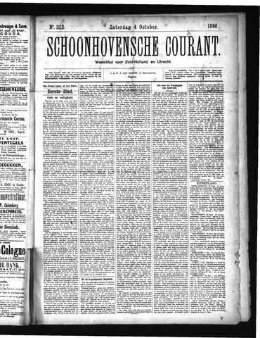 Schoonhovensche Courant 1890-10-04
