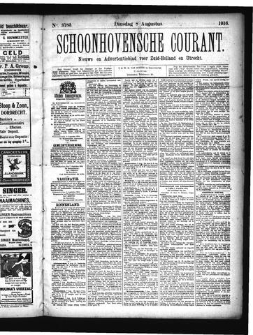 Schoonhovensche Courant 1916-08-08