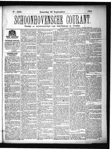 Schoonhovensche Courant 1914-09-26