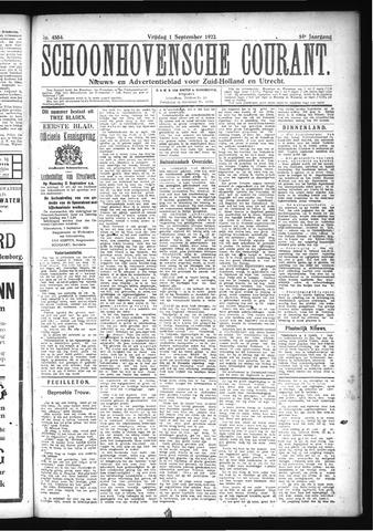 Schoonhovensche Courant 1922-09-01