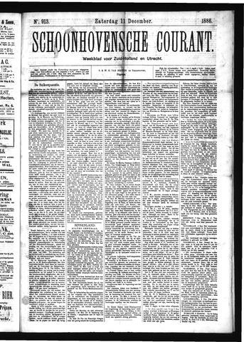Schoonhovensche Courant 1886-12-11