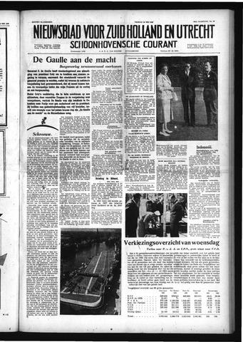 Schoonhovensche Courant 1958-05-30